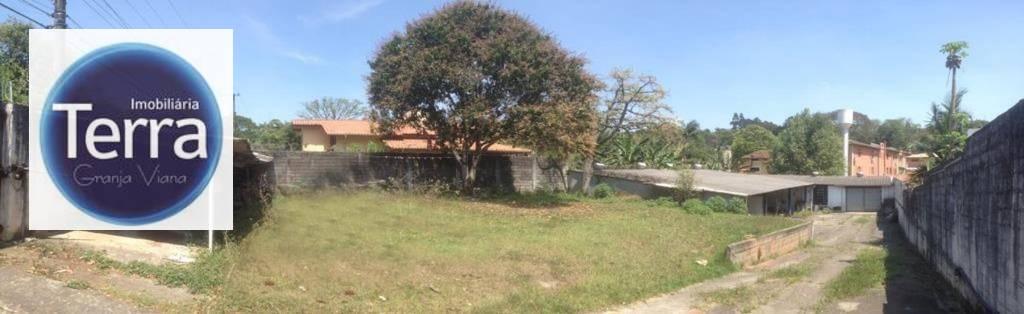 Terreno com galpão para alugar, 1200 m² por R$ 5.000/mês - Miolo da Granja - Granja Viana