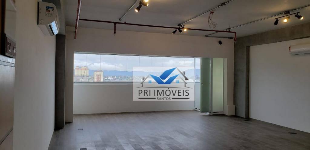 Sala para alugar, 60 m² por R$ 2.700,00/mês - Centro - Santos/SP