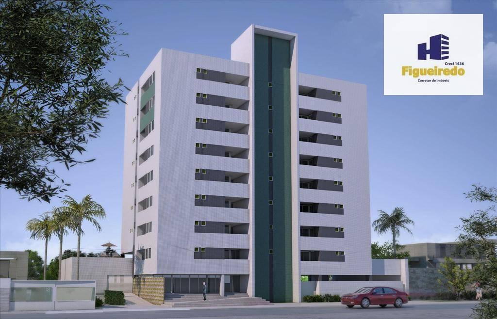 Apartamento com 3 dormitórios à venda, 91 m² por R$ 380.000 - Bessa - João Pessoa/PB