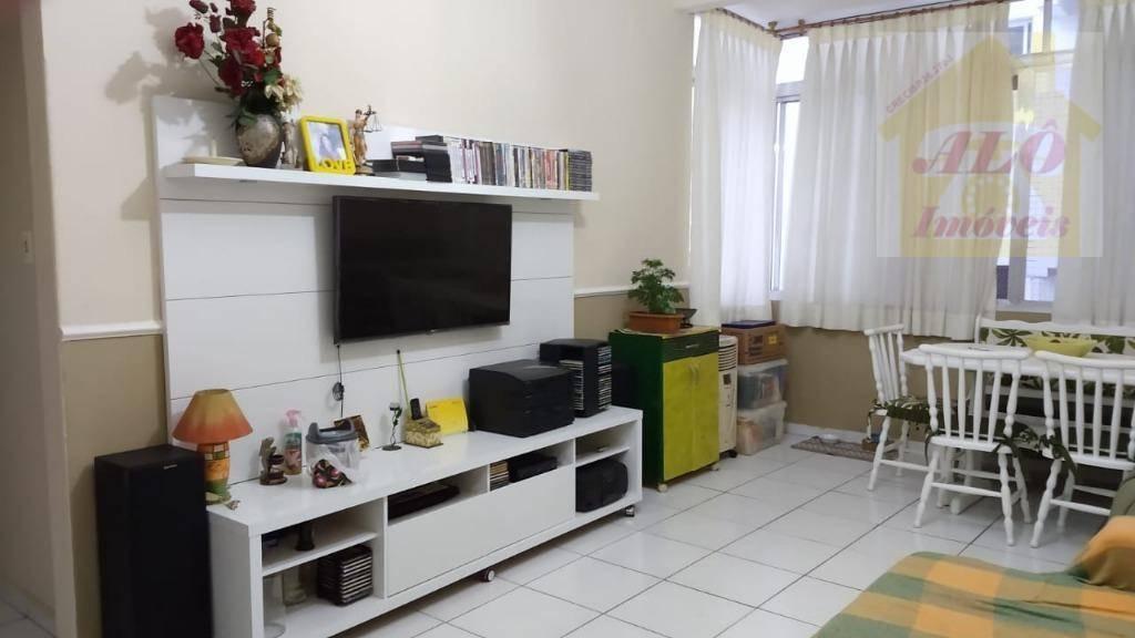 Apartamento com 3 dormitórios à venda, 95 m² por R$ 370.000,00 - José Menino - Santos/SP