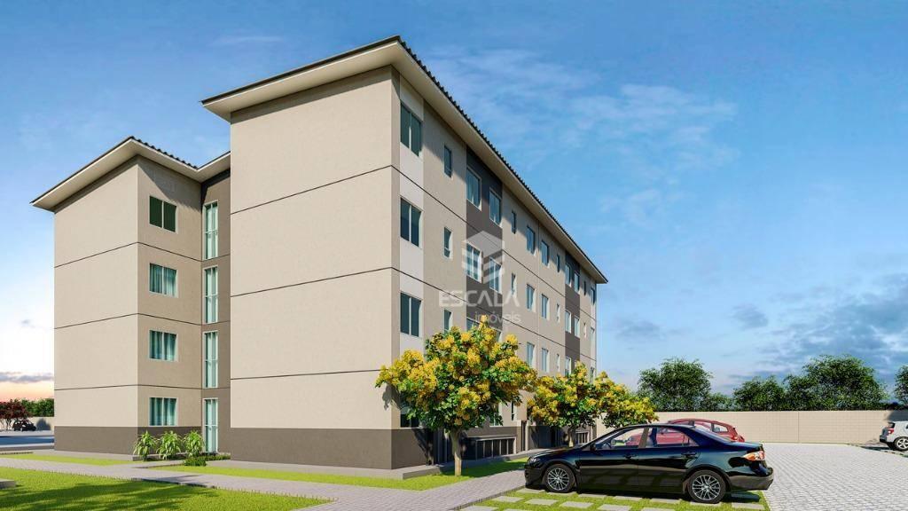 Apartamento com 2 quartos à venda, 42 m², área de lazer, minha casa minha vida - Marechal Rondon  - Caucaia/CE