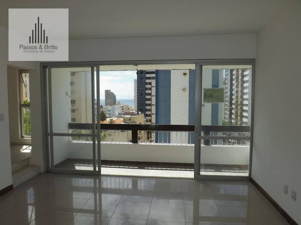 Apartamento com 3 dormitórios à venda, 135 m² , nascente, varanda, por R$ 390.000,00 - Pituba - Salvador/BA