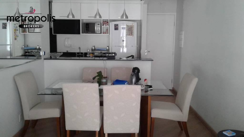 Apartamento com 2 dormitórios à venda, 61 m² por R$ 415.000 - Campestre - Santo André/SP