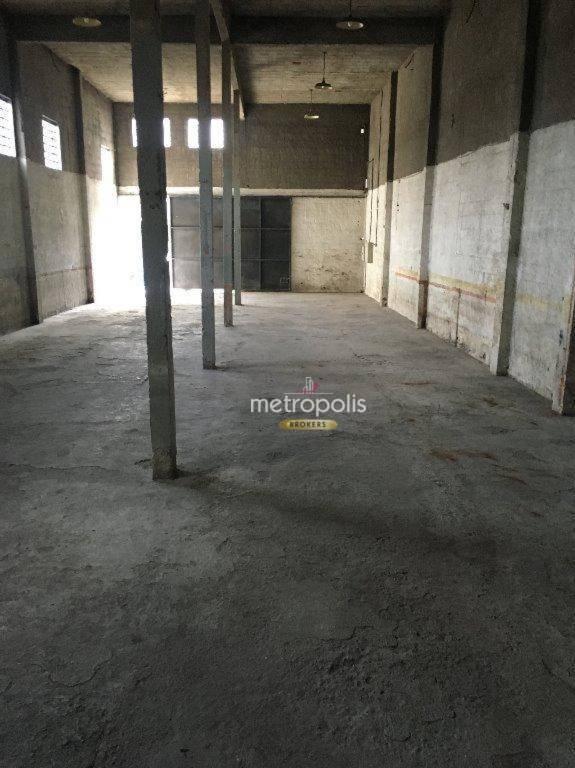 Galpão para alugar, 408 m² por R$ 3.300/mês - Vila Nogueira - Diadema/SP