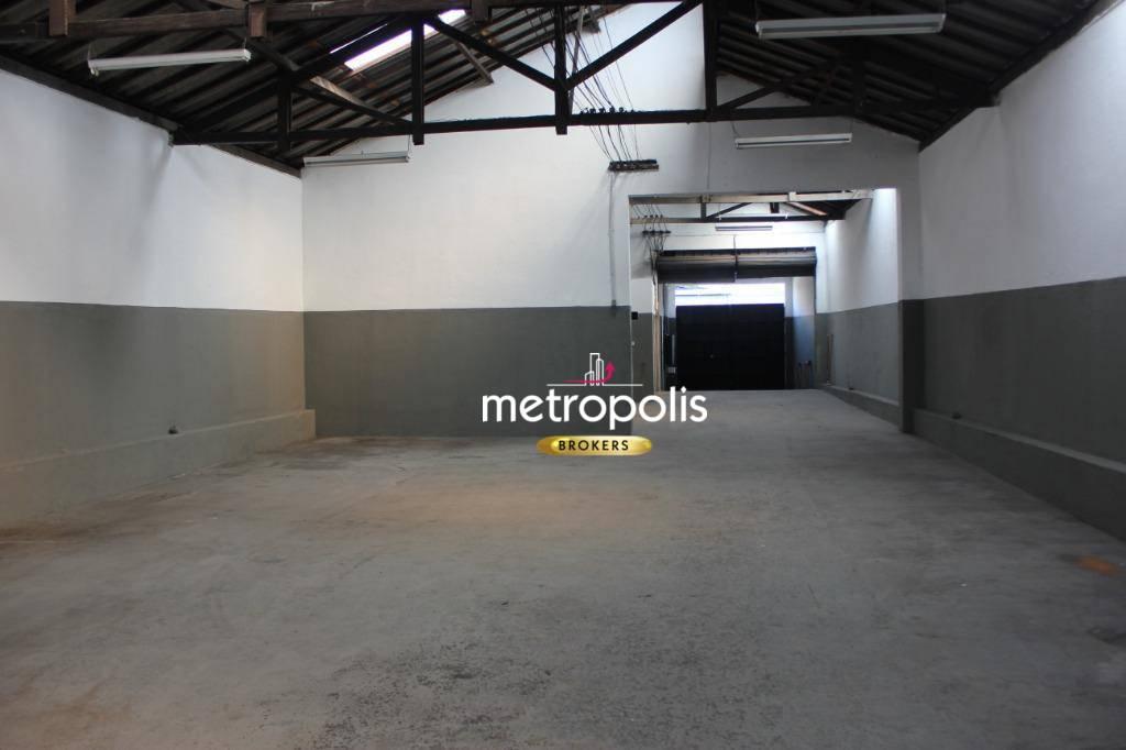 Galpão para alugar, 840 m² por R$ 12.500,00/mês - Santo Antônio - São Caetano do Sul/SP