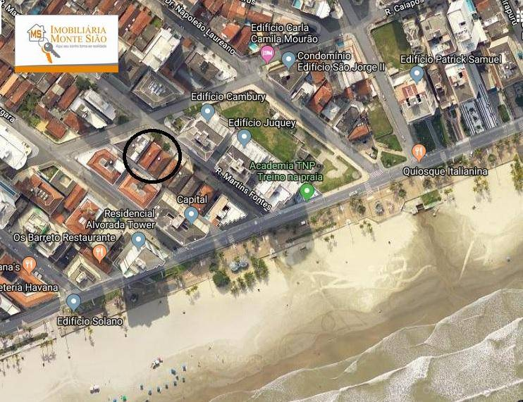Apartamento com 1 dormitório, 52 m² - Tupi - Praia Grande/SP