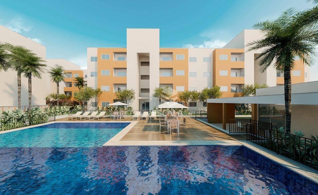 Apartamento com 2 quartos à venda, 53 m², suíte, 1 vaga, área de lazer, financia - Paumirim - Caucaia/CE