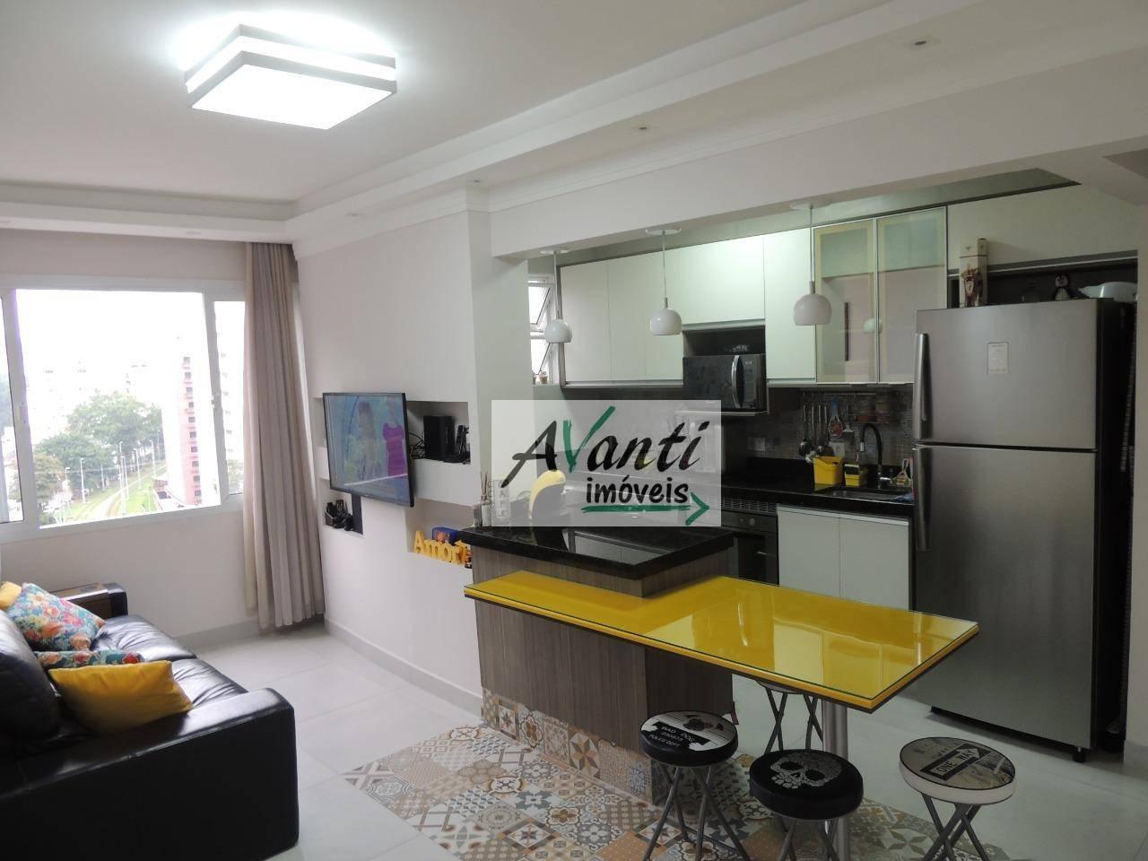 Apartamento vista mar, 1 dormitório com suíte, à venda, por R$ 270.000 - Itararé - São Vicente/SP