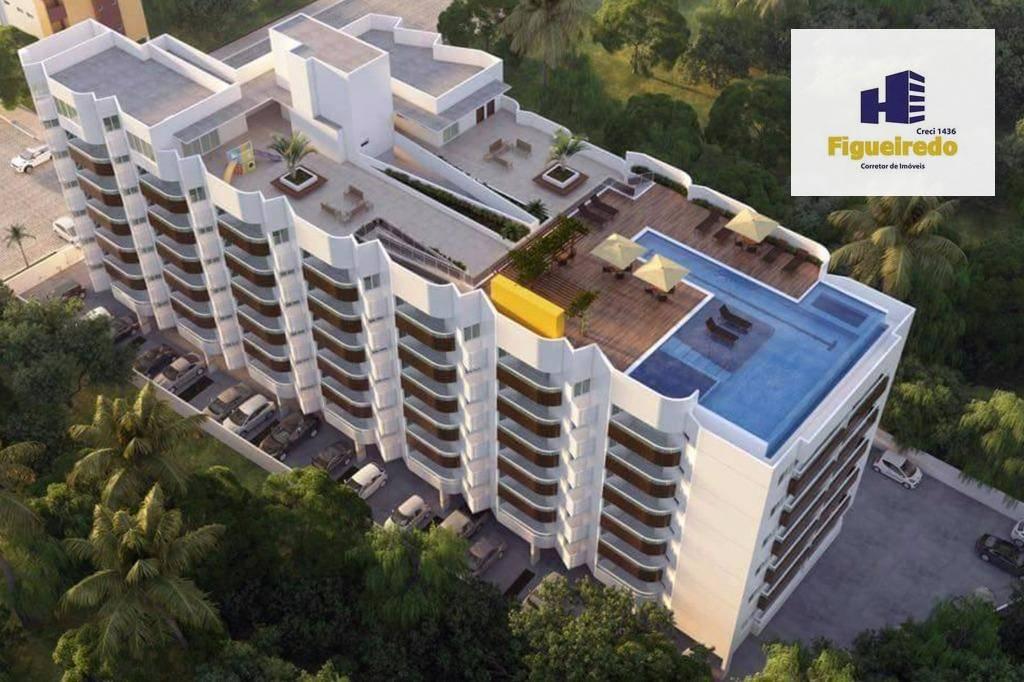 Apartamento com 2 dormitórios à venda, 57 m² por R$ 360.000 - Bessa - João Pessoa/PB