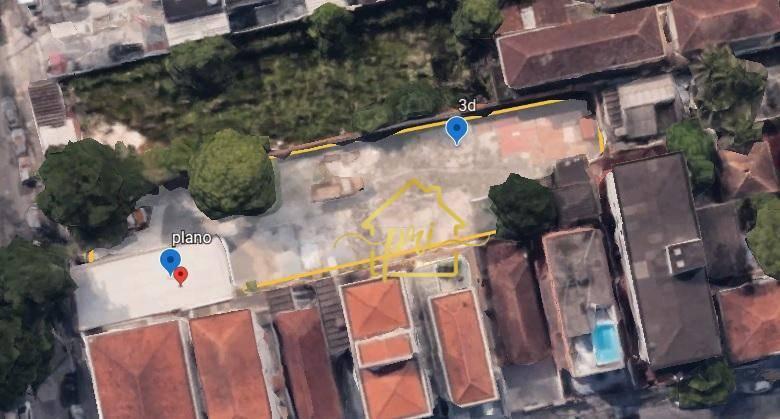 Terreno à venda, 1368 m² por R$ 6.000.000,00 - Campo Grande - Santos/SP