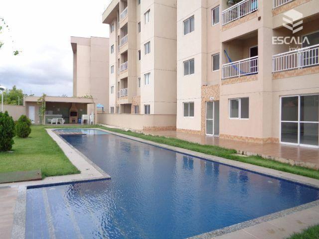 Apartamento com 2 quartos à venda, 52 m², elevador, área de lazer, financia - Cajazeiras - Fortaleza/CE