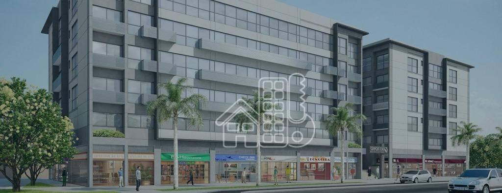 Sala, 25 m² - venda por R$ 130.000,00 ou aluguel por R$ 600,00/mês - Fonseca - Niterói/RJ