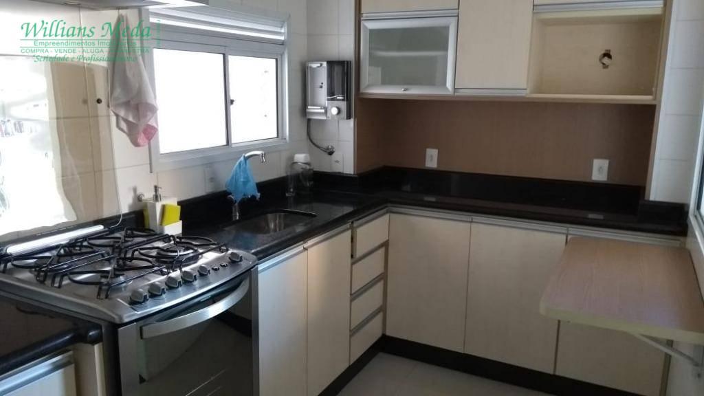Apartamento com 2 dormitórios para alugar, 83 m² por R$ 2.200/mês + COND + IPTU - Vila Santo Antônio - Guarulhos/SP