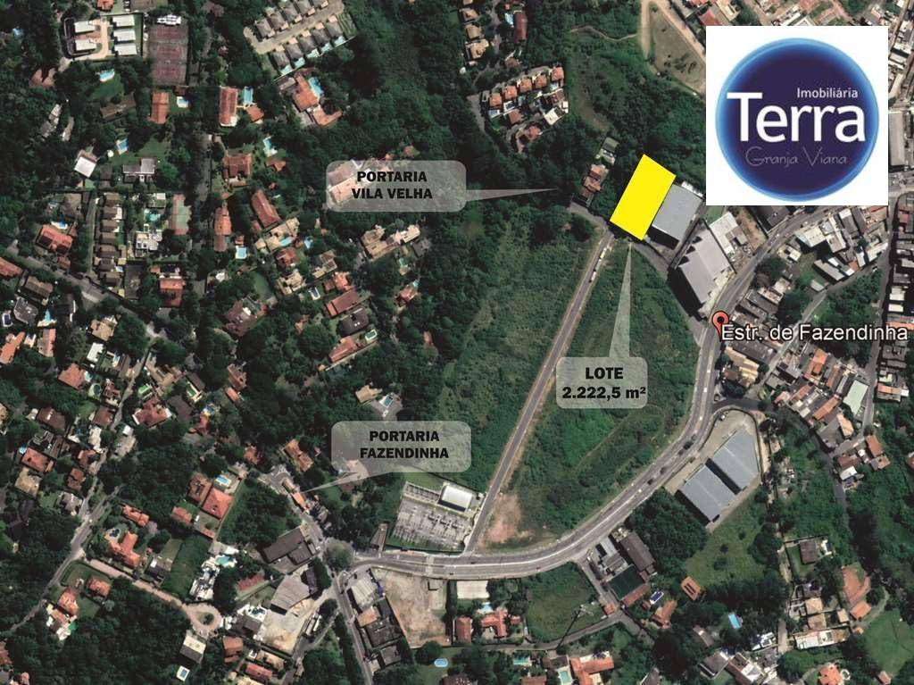 Terreno à venda, 2222 m² por R$ 1.650.000 - Jardim Ana Estela - Granja Viana