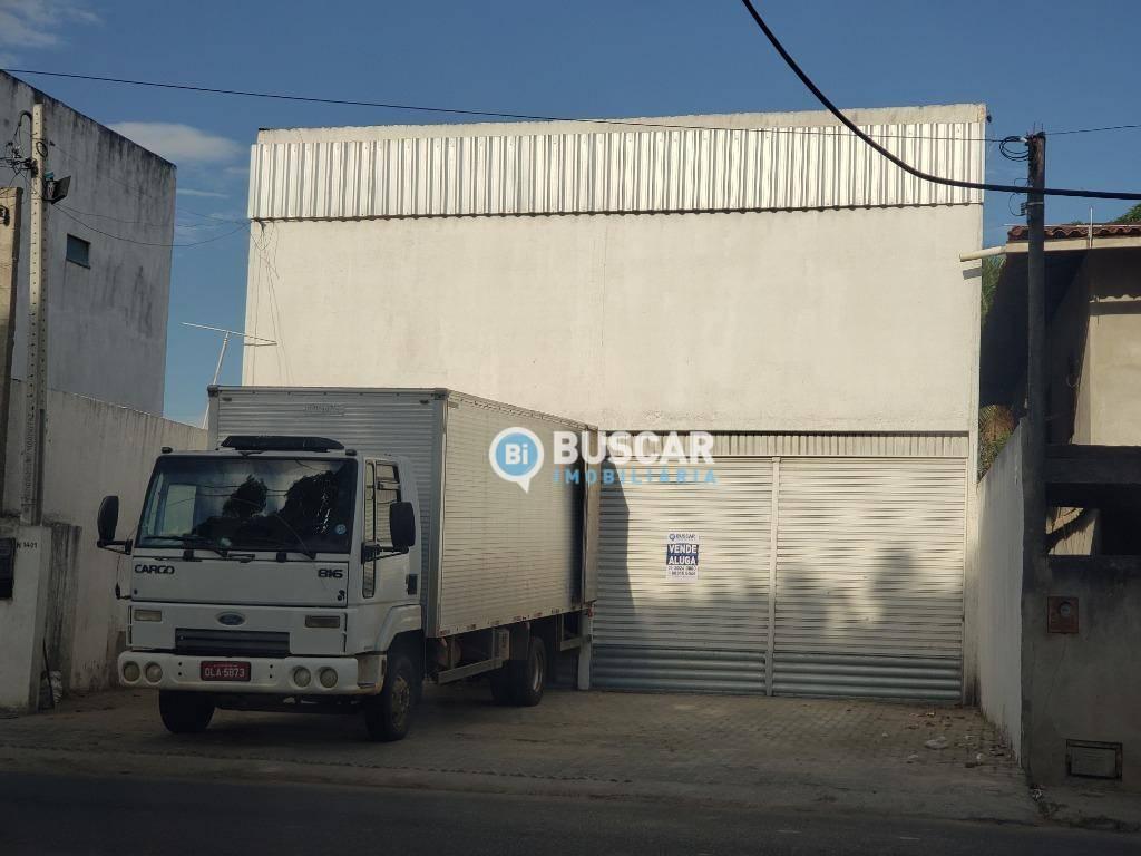 Galpão, 308 m² - venda por R$ 550.000,00 ou aluguel por R$ 2.800,00/mês - Feira VII - Feira de Santana/BA