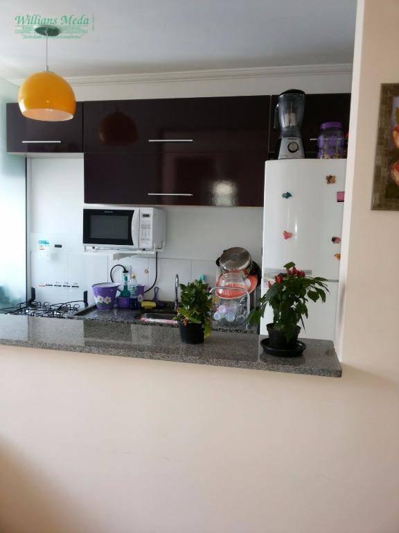Apartamento com 2 dormitórios à venda, 47 m² por R$ 245.000 - Vila Rio de Janeiro - Guarulhos/SP