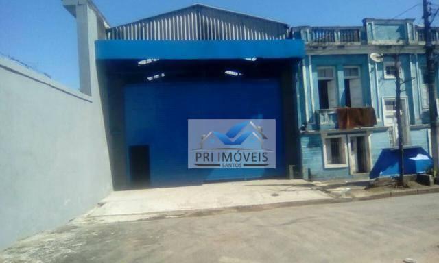 Galpão para alugar, 550 m² por R$ 11.000/mês - Vila Nova - Santos/SP