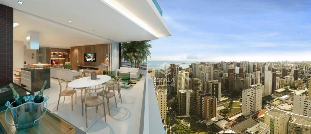 Apartamento com 4 quartos à venda, 202 m² , alto padrão, 4 vagas, Estrelário Residence - Meireles - Fortaleza/CE