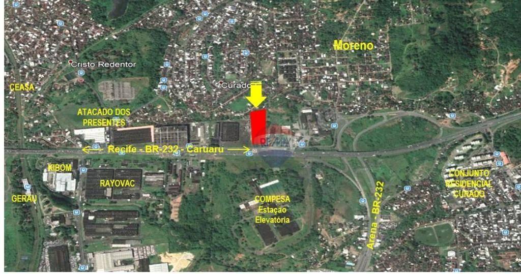 Terreno à venda, 12000 m² por R$ 9.860.000 - BR-232 km 10 - Curado - Jaboatão