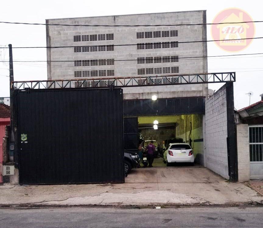 Galpão para alugar, 280 m² por R$ 7.000,00/mês - Boqueirão - Praia Grande/SP