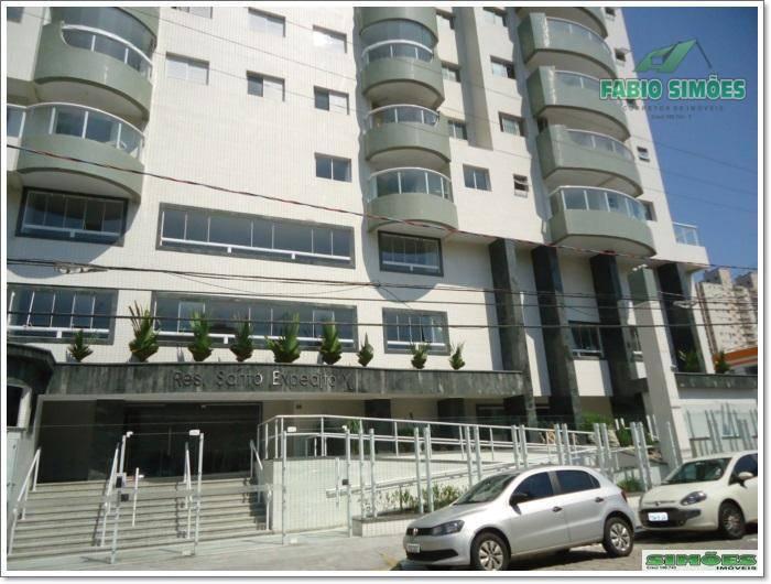 Apartamento com 2 suites e vista do Mar com lazer no Campo da Aviação em Praia Grande.