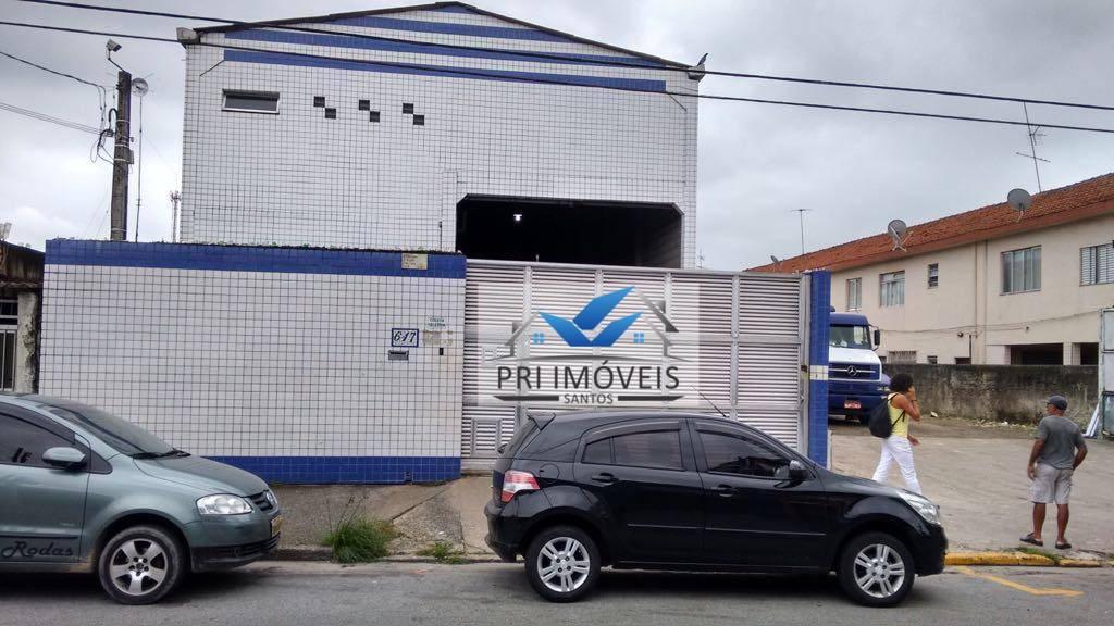 Galpão para alugar, 600 m² por R$ 6.500,00/mês - Parque São Vicente - São Vicente/SP