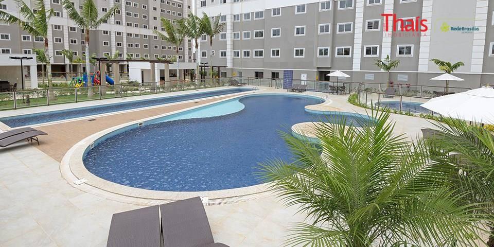 qi 24 - top life long beach - taguatingaapartamento com 02 quartos sendo 01 suíte, banheiros...