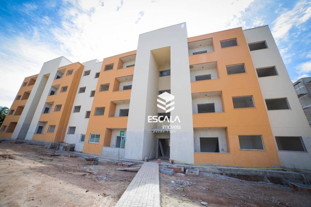 Apartamento com 2 quartos à venda, 53 m², suíte, 2 vagas, área de lazer, financia - Paumirim - Caucaia/CE
