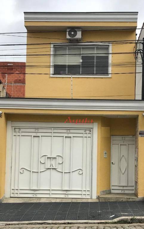 Sobrado residencial à venda, Parque das Nações, Santo André - SO0943.