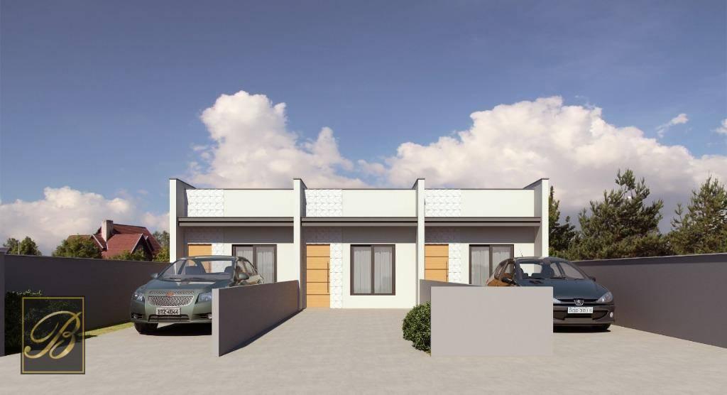 Casa com 2 dormitórios à venda, 65 m² por R$ 265.000 - Jardim Iririú - Joinville/SC