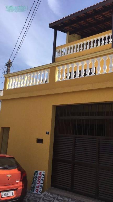 Sobrado residencial para locação, Jardim Moreira, Guarulhos.