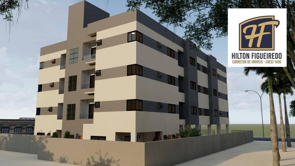 Apartamento com 2 dormitórios à venda, 55 m² por R$ 190.000,00 - Camboinha - Cabedelo/PB