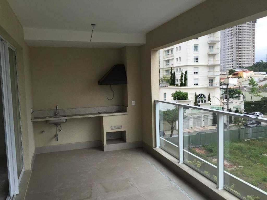 Apartamento residencial à venda, 182 m², 4 dorm, terraço gourmet, 4 vagas, Campestre, Santo André.
