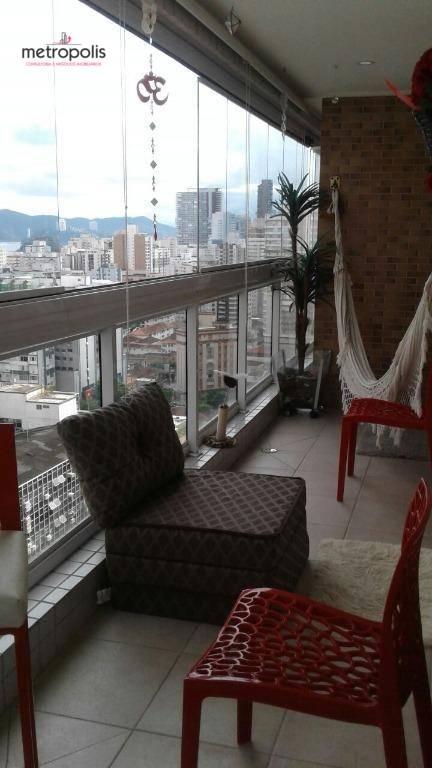 Apartamento residencial à venda, Gonzaga, Santos - AP0951.