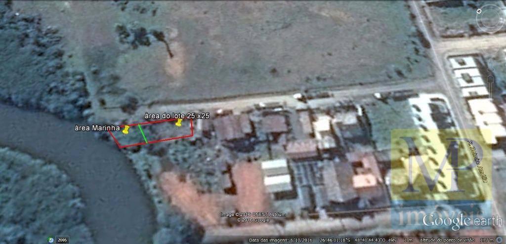 Terreno à venda, 525 m² por R$ 280.000,00 - Centro - Balneário Piçarras/SC
