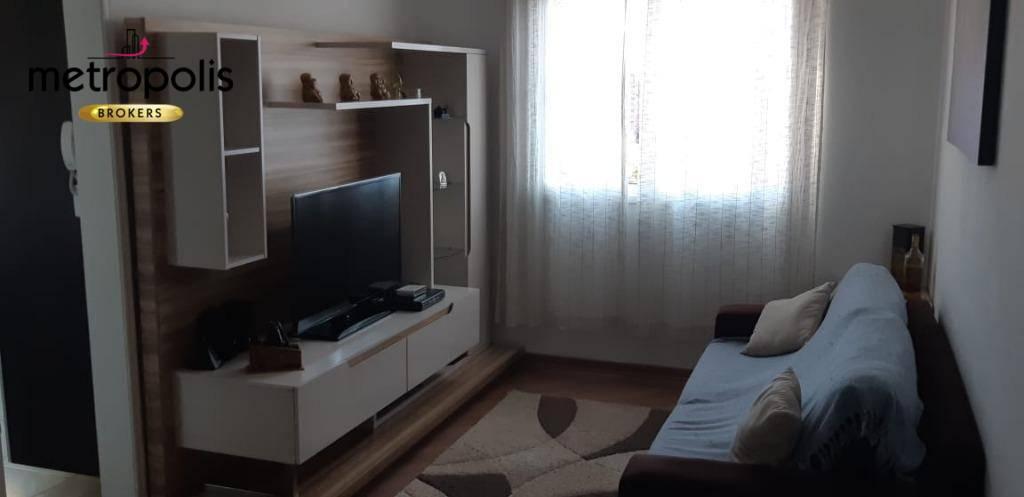 Apartamento com 2 dormitórios à venda, 67 m² por R$ 372.000 - Nova Gerti - São Caetano do Sul/SP