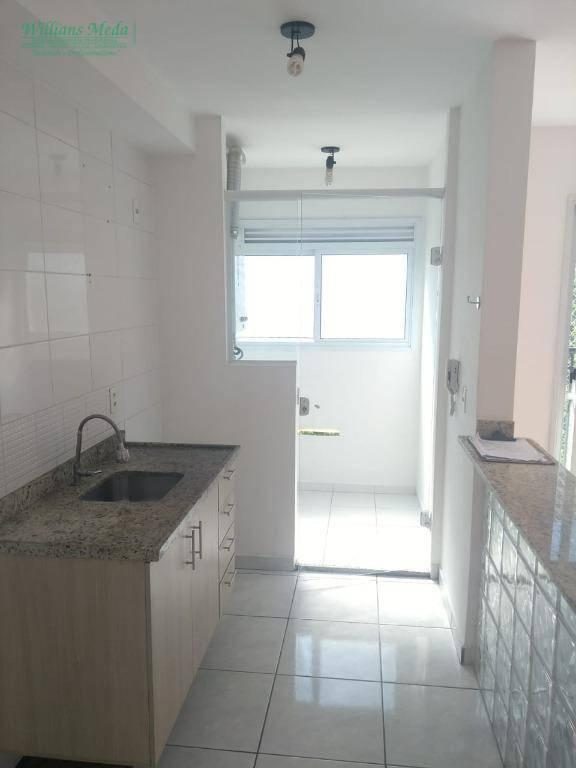Apartamento com 2 dormitórios à venda, 51 m² por R$ 245.000 - Vila Augusta - Guarulhos/SP