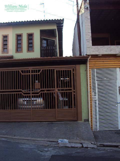 Sobrado residencial à venda, 3 dormitórios, 1 suíte, 2 vagas. Jardim Rosa de Franca, Guarulhos - SO0742.