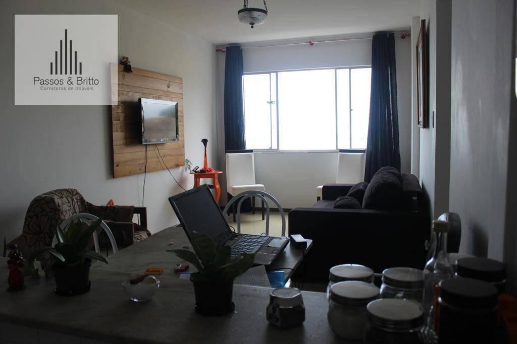 Excelente apartamento com 2 dormitórios totais, vista mar, à venda, 62 m² por R$ 295.000 - Campo Grande - Salvador/BA
