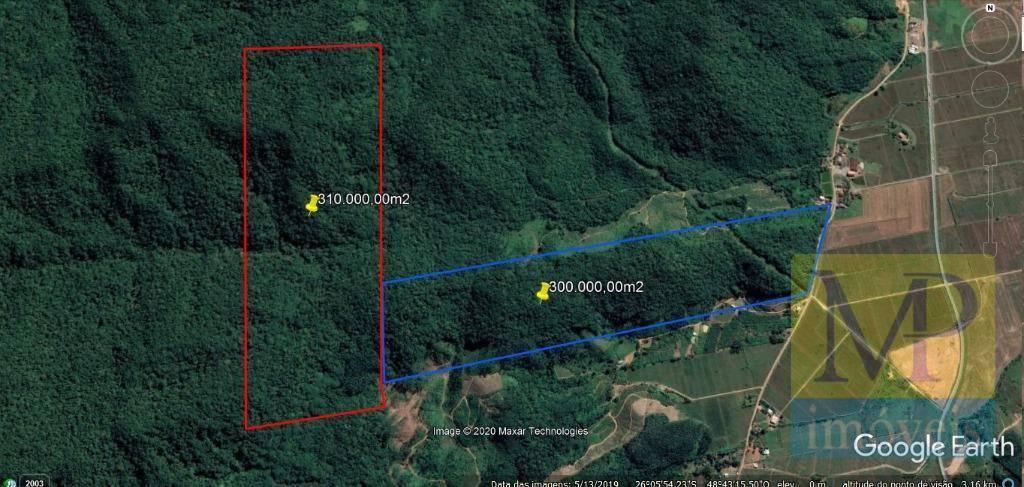 Área à venda, 300000 m² por R$ 250.000,00 - Perola - Itapoá/SC