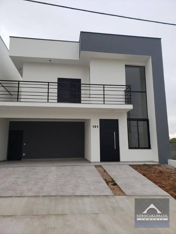 Sobrado à venda, 220 m² por R$ 870.000 - Condomínio Vila Suíça - Sorocaba/SP OPORTUNIDADE CASA OU TERRENO ATÉ 350 MIL COMO PARTE DE PAGAMENTO.