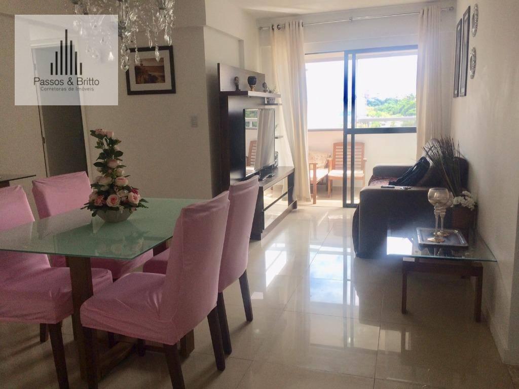 Apartamento com 3 dormitórios para alugar por temporada, 80 m² por R$ 2.900/mês - Santa Teresa - Salvador/BA