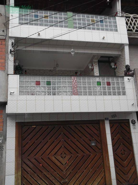 Sobrado  residencial à venda, 3 dormitórios, 3 vagas. Jardim Santa Cecília, Guarulhos.