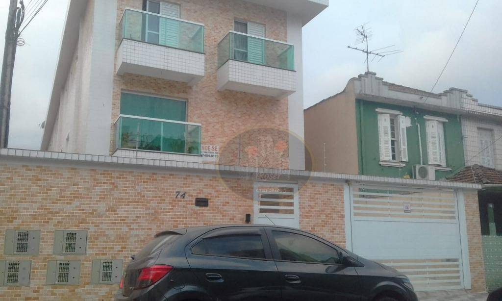 Casa com 2 dormitórios para alugar, 85 m² por R$ 2.200/mês - Encruzilhada - Santos/SP