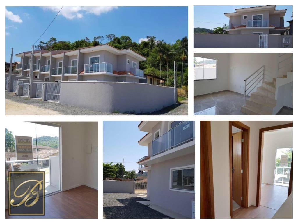 Sobrado com 3 dormitórios à venda, 82 m² por R$ 260.000 - Jardim Sofia - Joinville/SC