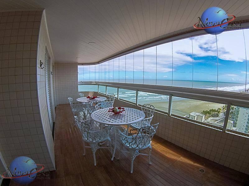 Apartamento de Alto Padrão, 4 dorm. e Vista para o MAR, na Guilhermina, Praia Grande.