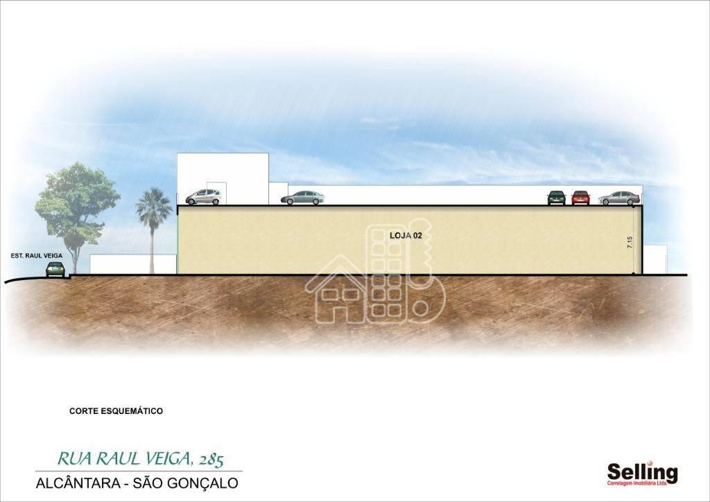 Loja para alugar, 444 m² por R$ 30.000/mês - Alcântara - São Gonçalo/RJ