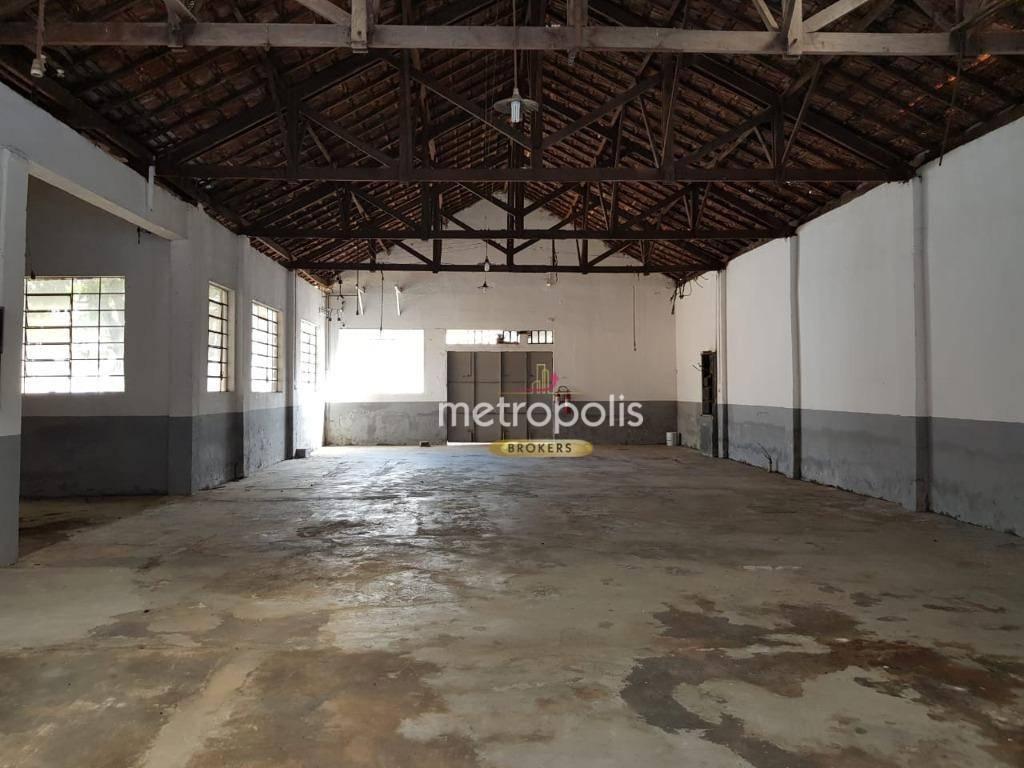 Galpão, 1000 m² - venda por R$ 3.400.000,00 ou aluguel por R$ 8.000,00/mês - Centro - São Caetano do Sul/SP