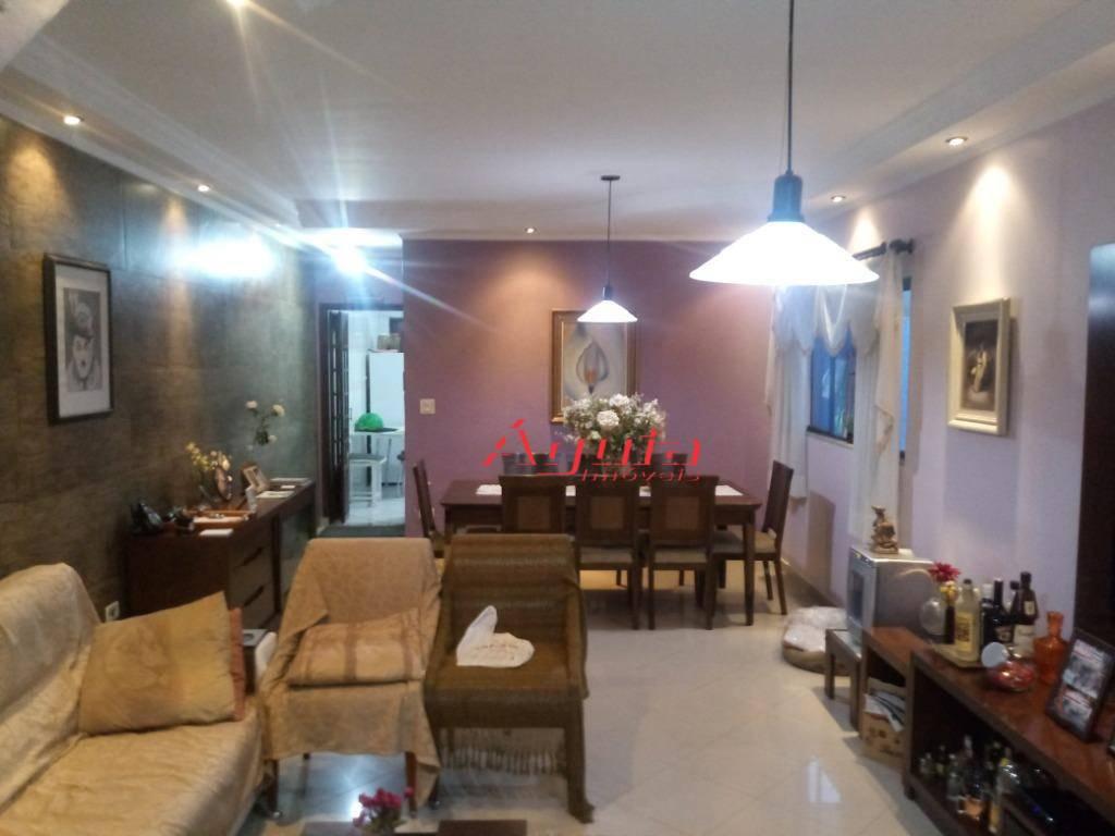 Sobrado com 4 dormitórios à venda, 176 m² por R$ 650.000 - Parque Oratório - Santo André/SP