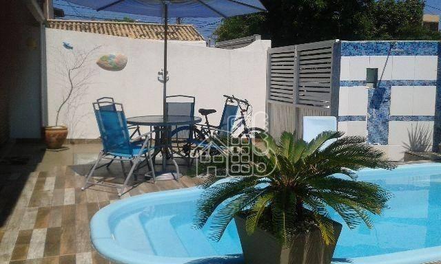 Casa com 3 dormitórios à venda, 110 m² por R$ 530.000,00 - Balneário Remanso - Rio das Ostras/RJ